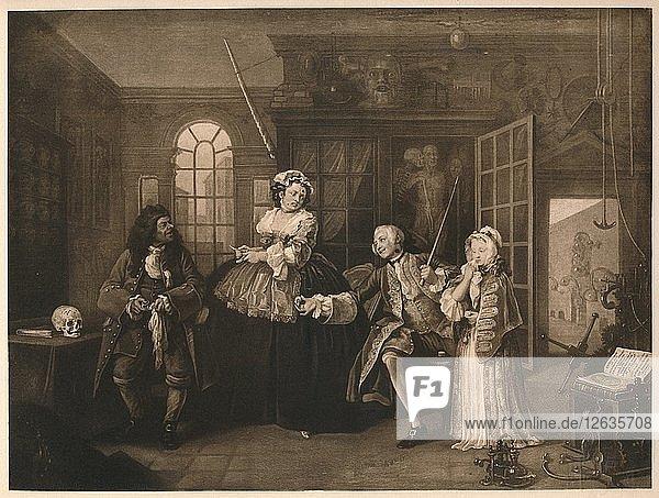 Marriage A-la-Mode: 3. The Inspection  c1743. Artist: William Hogarth.