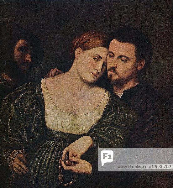 The Lovers  1525-1530 (c1940). Artist: Paris Bordone.