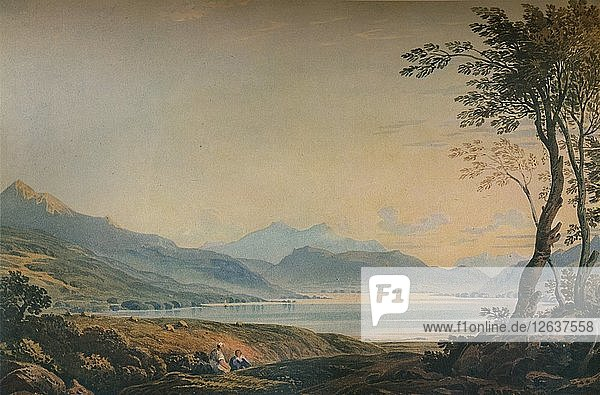 Windermere from Bowness  c1822  (1938). Artist: John Varley I.