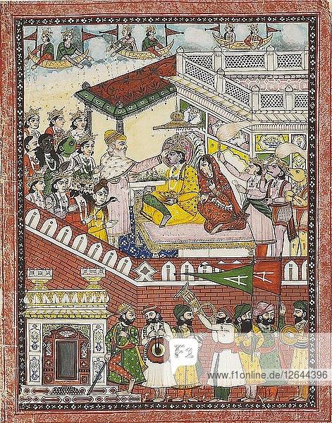 The coronation of Rama  c1861. Artist: Unknown.