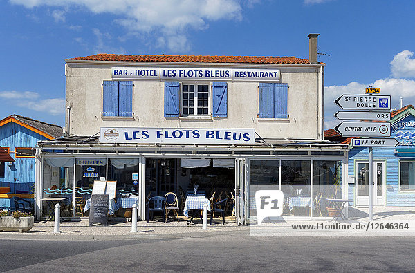 Fischrestaurant  Ile d´Oléron  Le Château-d'Oléron  Charente-Maritime  Frankreich  Europa