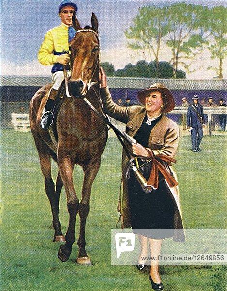 Black Speck  Jockey: A. Richardson  1939. Artist: Unknown.