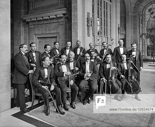 Orchestra of the Midland Adelphi Hotel  Liverpool  Merseyside  1914. Artist: Bedford Lemere and Company.