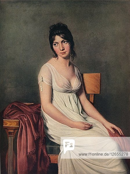 Portrait of a Young Woman in White  1798. Artist: Jacques-Louis David.