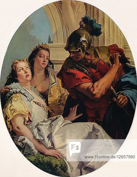 Scene from Ancient History  c1750. Artist: Giovanni Battista Tiepolo.