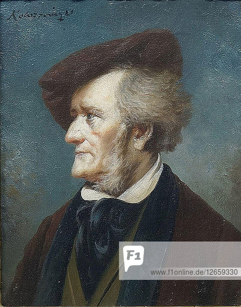 Portrait of the Composer Richard Wagner (1813-1883).