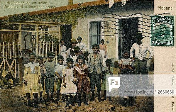 Habitantes de un solar. Dwellers of a tenement house  c1913. Artist: Unknown.