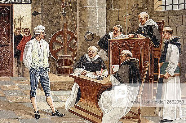 Judgment of the court of inquisition of Geneva to Spanish theologian Miguel Servet  condemning hi?