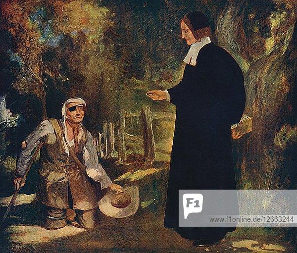 Bishop Ken and a Beggar  1912. Artist: Unknown.