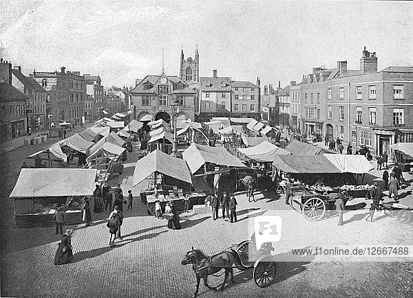 Market-Place,  Peterborough,  c1896. Artist: H Marriott.