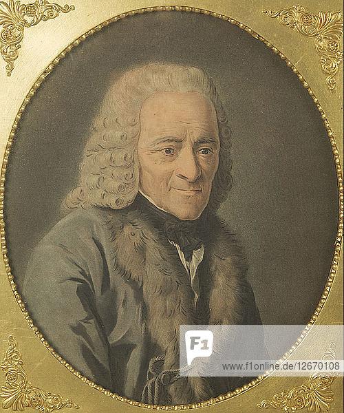 Portrait of the writer  essayist and philosopher Francois Marie Arouet de Voltaire (1694-1778).