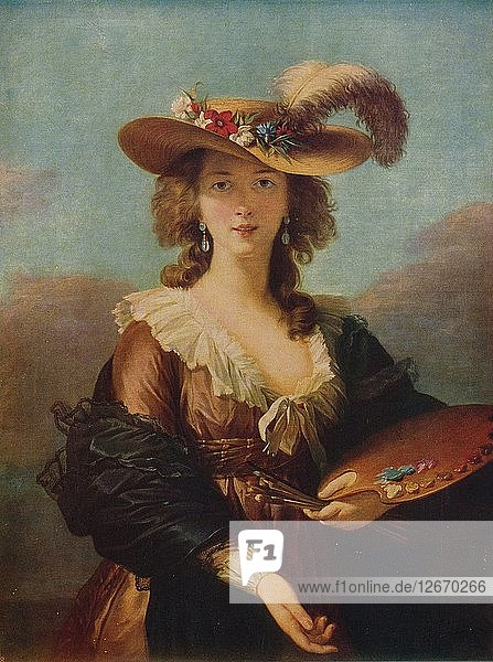 Portrait of the Artist  after 1782  (c1915). Artist: Madame Vigee Lebrun.