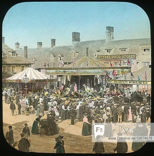 Witney Fair  Oxfordshire  1890s. Artist: Henry Taunt.