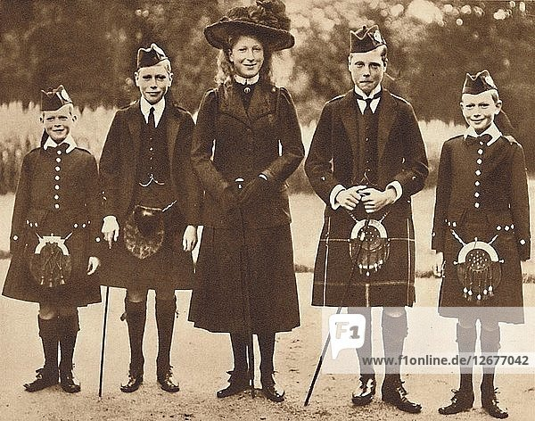 The Children of King George V and Queen Mary  c1910  (1937). Artist: Unknown.