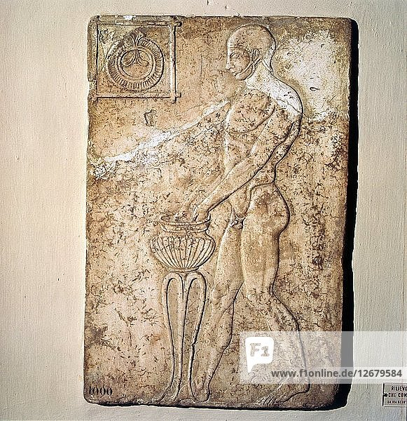 Roman Votive relief of Athlete from Republican Period  Rome  c2nd century BC. Artist: Unknown.