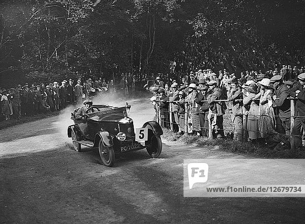 AC of Lilian Roper competing in the MAC Shelsley Walsh Hillclimb  Worcestershire  1923. Artist: Bill Brunell.