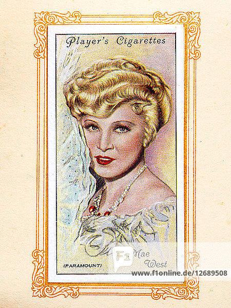 Mae West  1934. Artist: Unknown.