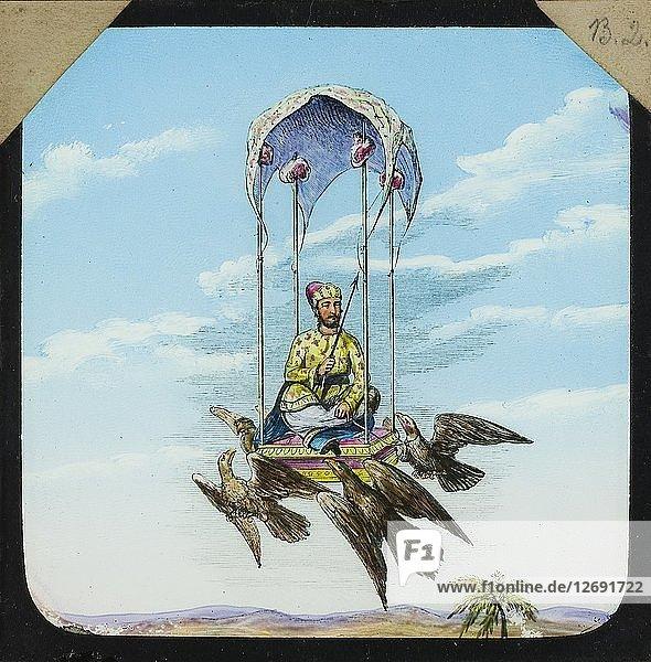 Amazing flying machine  1882-1892. Artist: Unknown.
