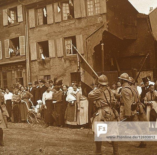 Alsace is taken  c1914-c1918. Artist: Unknown.