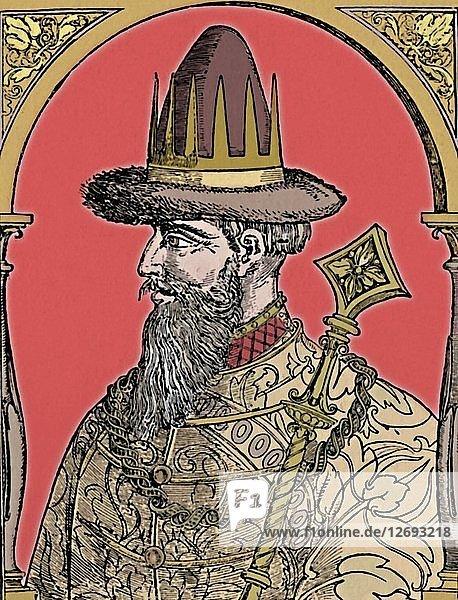 The Czar Ivan the Terrible  1590  (1903). Artist: Hans Wengel.
