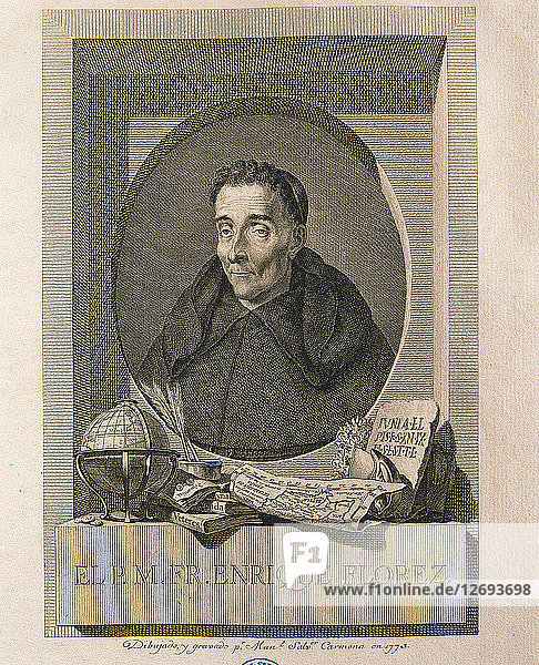 Enrique Florez (1702-1773)  Spanish historian and theologian  etching of 1773.