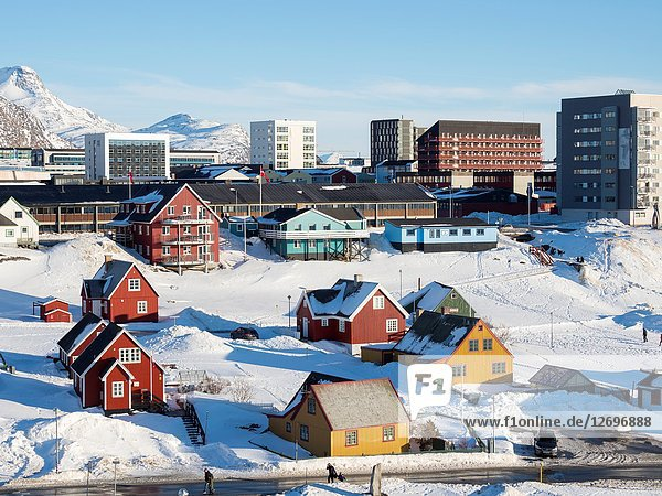 Nuuk  the capital of Greenland. America  North America  Greenland.