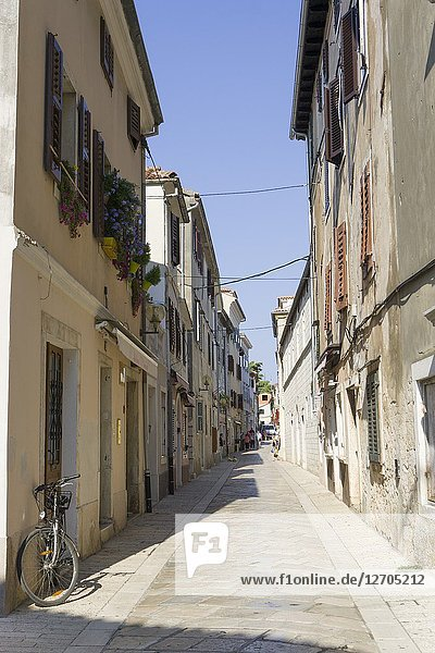 POREC CROATIA ON AUGUST 20  2018: Cityscape in a town almost 2 000 years old and municipality on the western coast of the Istrian peninsula.