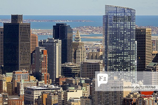 Skyscrapers  Boston  Massachusetts  United States.