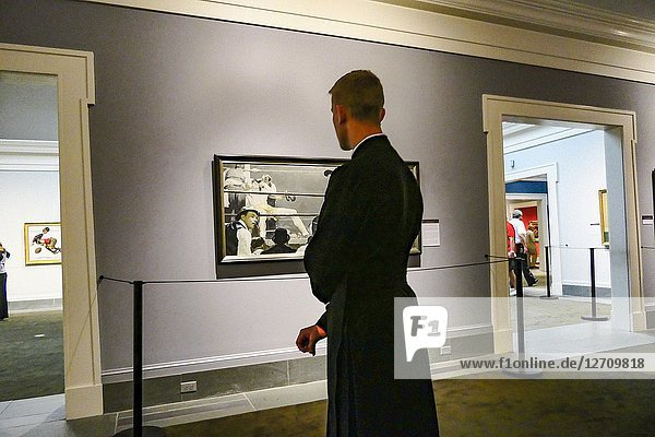 Stockbridge  Massachusetts  USA Visitors to the Norman Rockwell Museum  a famous American artist.