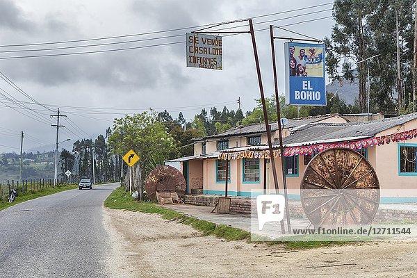 Tourist village near Guatavita reservoir  Colombia.