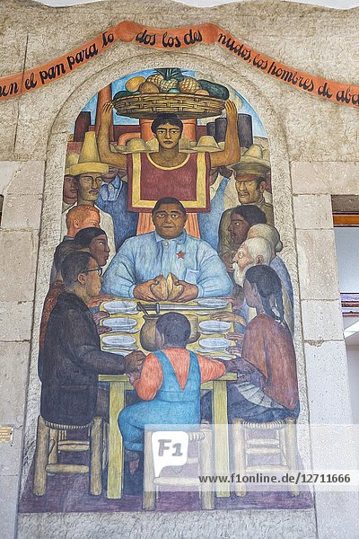 Painting by Diego Rivera  Secretariat of Public Education  Mexico City  Mexico.
