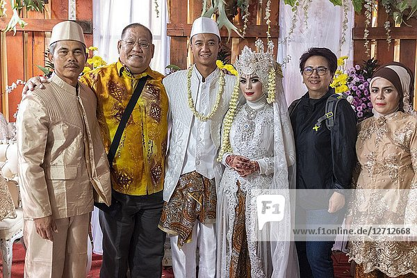 Indonesian traditional wedding in Bandung  Java  Indonesia