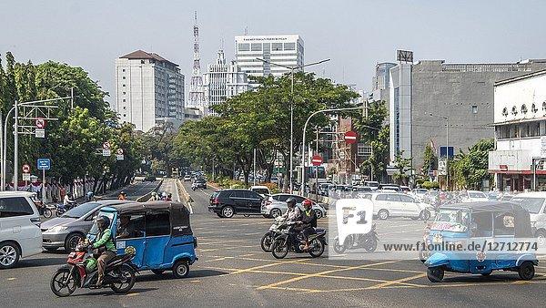 Traffic in Jakarta  Indonesia