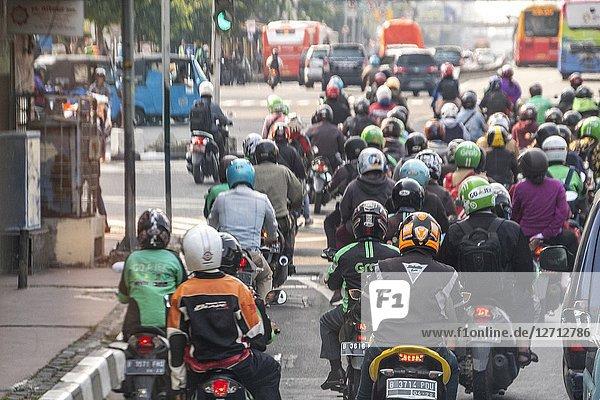 Motorbike Grab service in Jakarta  Indonesia