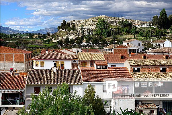 Galera village - unspoilt cave country in mountainous region of northern Andalusia  between the Sierra Nevada and the Sierra de Castril  municipality Huéscar  province of Granada  Andalusia  Spain  Europe