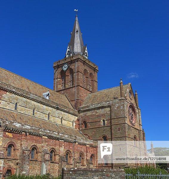 St. Magnus Cathedral  Kirkwall  Mainland  Orkney islands  Scotland  UK.
