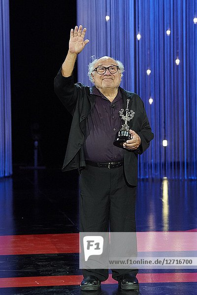 Danny DeVito receives Donostia Award during the 66th San Sebastian International Film Festival at Kursaal Palace on September 22  2018 in San Sebastian  Spain