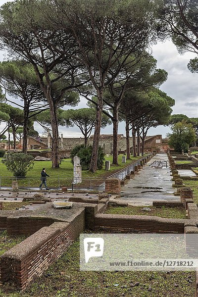 Ruins of ancient Roman Ostia Antica  Lazio  Italy.