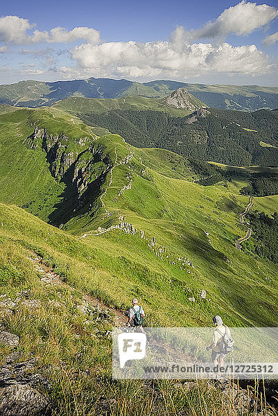 France  Center France  Cantal mountains  hiking on the Puy Mary
