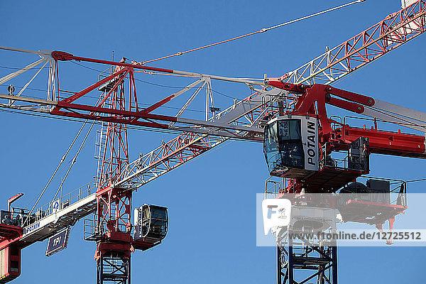 Cranes Tolbiac district  Paris  France