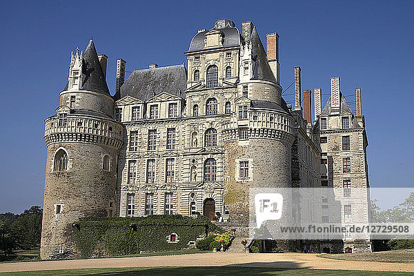 France  Brissac castle  Eastern facade  general view