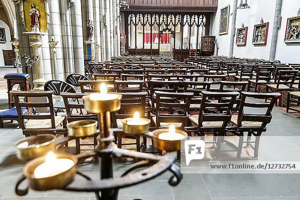 United Kingdom Great Britain England  London  Marylebone  Church of the Annunciation Marble Arch  Church of England parish  inside  Medieval revival architecture  rood screen partition