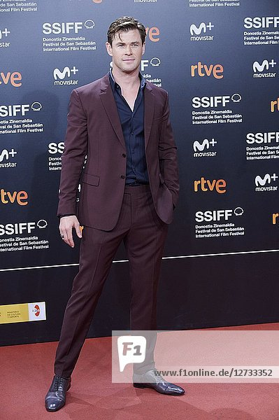 Chris Hemsworth attended 'Bad Times at the El Royale' Premiere during the 66th San Sebastian International Film Festival at Kursaal Palace on September 29  2018 in San Sebastian  Spain