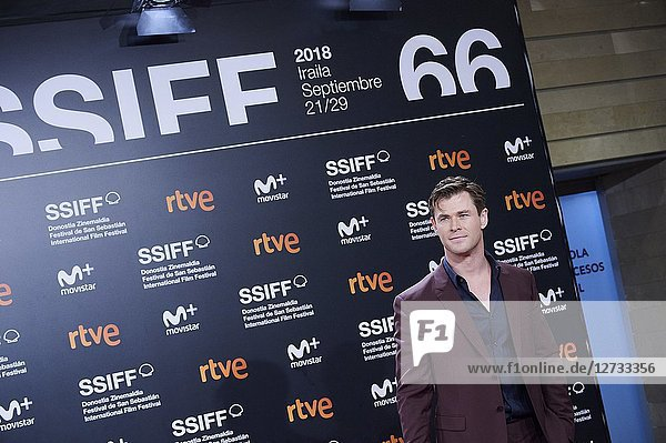Chris Hemsworth attended 'Bad Times at the El Royale' Premiere during the 66th San Sebastian International Film Festival at Kursaal Palace on September 29  2018 in San Sebastian  Spain