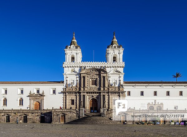 Saint Francis Church and Monastery  Plaza San Francisco  Old Town  Quito  Pichincha Province  Ecuador.