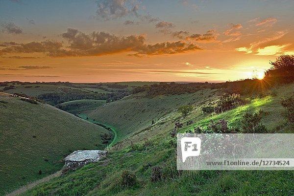 Sunrise at Devil's Dyke Brighton  Sussex. Uk.