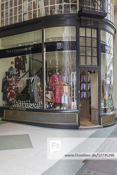 New & Lingwood fashion shop  Jermyn Street  Piccadilly  London  England  UK.