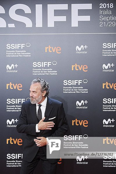 Jose Coronado attended 'El amor menos pensado' Premiere during the 66th San Sebastian International Film Festival at Kursaal Palace on September 21  2018 in San Sebastian  Spain