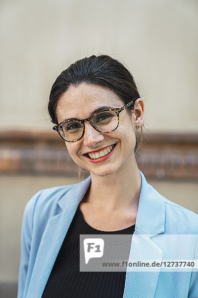 Portrait of a young businesswoman  wearing glasses