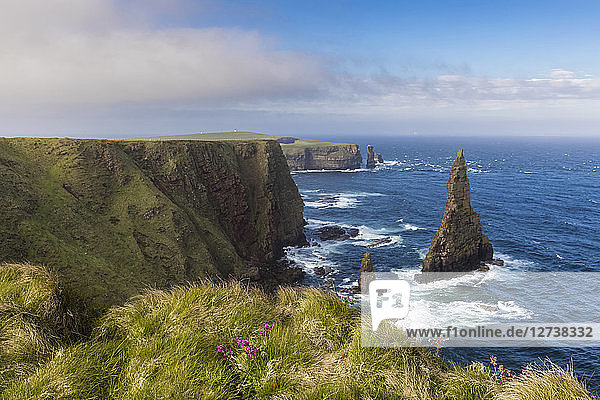 UK  Scotland  Caithness  Coast of Duncansby Head  Duncansby Stacks